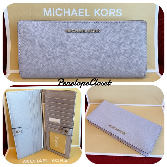 b532a05172d0 Michael Kors Bags | Jet Set Flat Slim Bifold Lilac Wallet | Poshmark